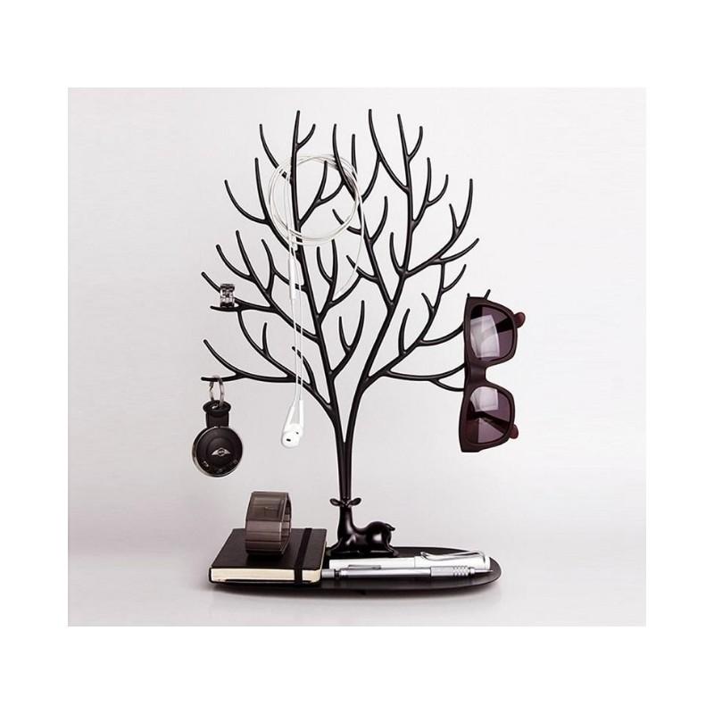 Ekspozytor na biżuterię duży- naszyjnik, pierścionki czarne drzewo E32CZ