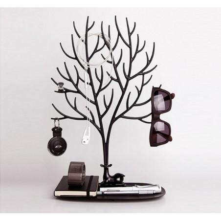 Ekspozytor na biżuterię - naszyjnik, pierścionki czarne drzewo E32CZ
