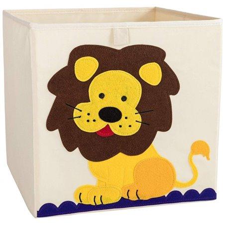Pojemnik na zabawki sztywny, filc, lew OR4WZ12