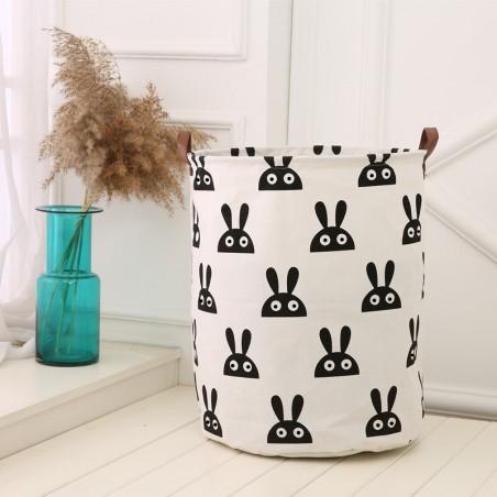 Pojemnik na zabawki kosz, worek na pranie króliki 35x45 cm OR2WZ1