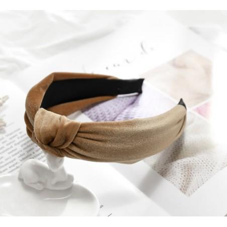 Opaska turban z materiału krem O229K