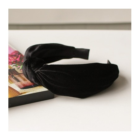 Opaska turban z materiału koronkowa z perełkami O229CZ