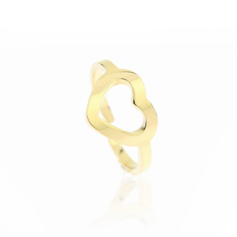 Pierścionek stal chirurgiczna platerowana złotem PST603
