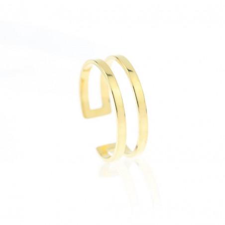 Pierścionek stal chirurgiczna platerowana złotem PST605