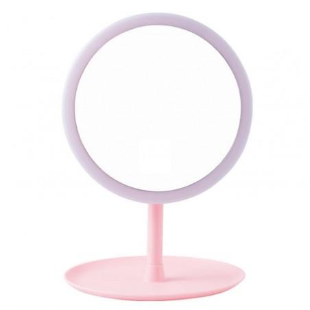 Lusterko simple stojące różowe L4R