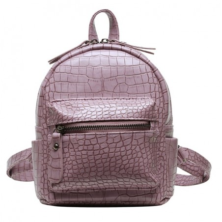 Plecak skóra ekologiczna elegancki CITY - pink PL145R