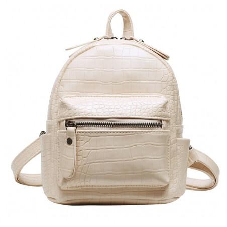 Plecak skóra ekologiczna elegancki CITY - white PL145B