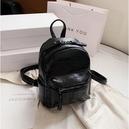 Plecak skóra ekologiczna elegancki CITY - black PL145CZ