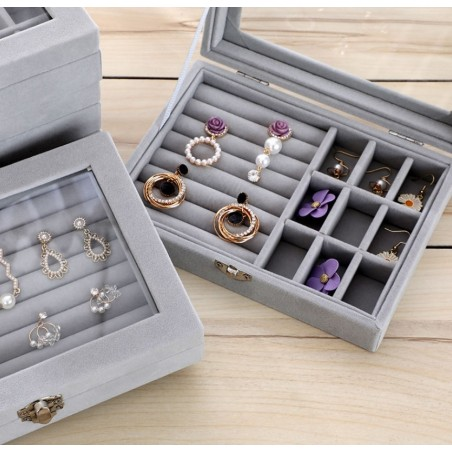 Szkatułka na biżuterię kuferek organizer pudełko PD123