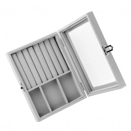 Szkatułka na biżuterię kuferek organizer pudełko PD122