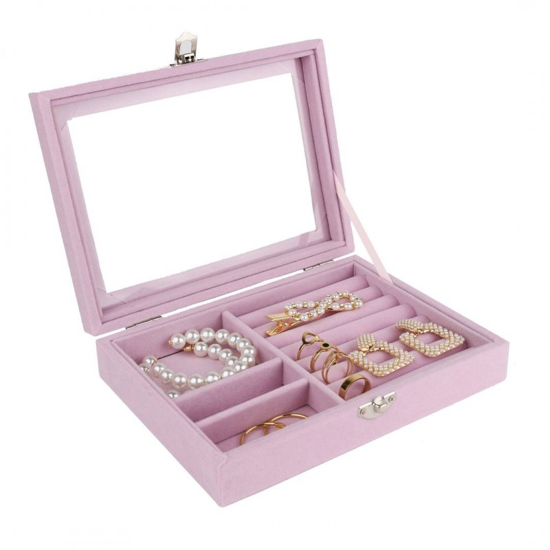 Szkatułka na biżuterię kuferek organizer pudełko PD124