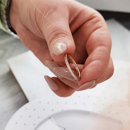 Pierścionek stal chirurgiczna platerowana złotem PST636