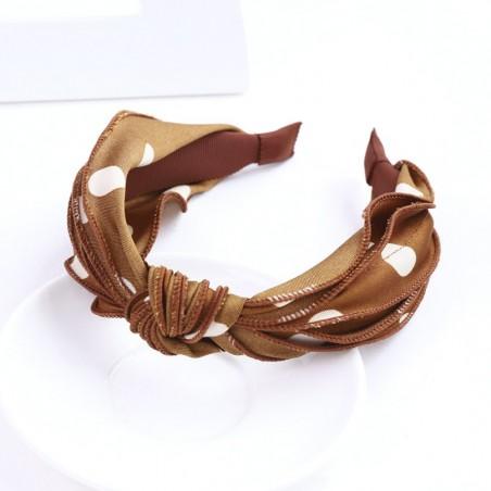 Opaska turban z materiału w groszki O367WZ2