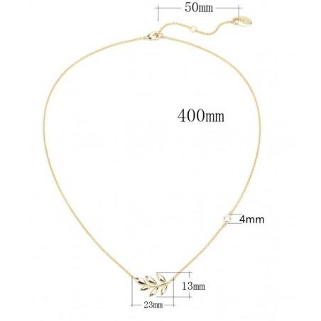 Naszyjnik ze stali platerowanej 14 karatowym złotem NST900