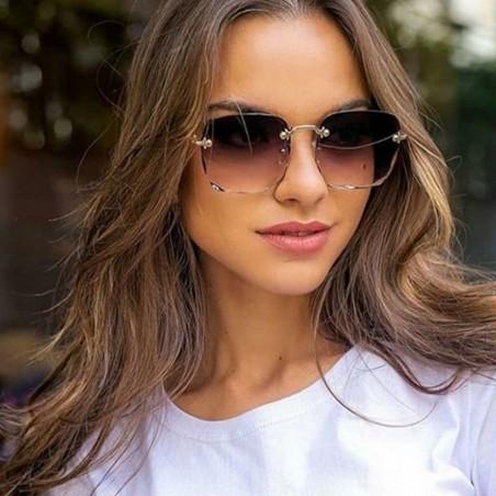 Okulary przeciwsłoneczne z kryształkami ombre OK213WZ1
