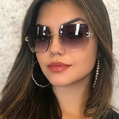 Okulary przeciwsłoneczne z kryształkami ombre OK214WZ1
