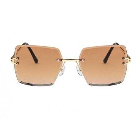 Okulary przeciwsłoneczne z kryształkami ombre OK214WZ3