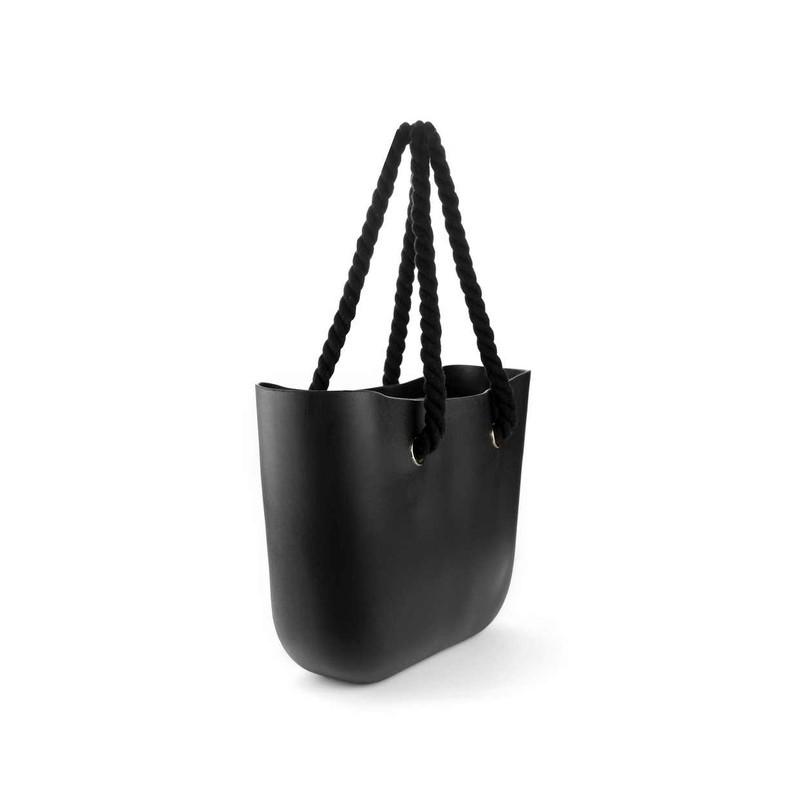 Torba Gumowa Miejska Jelly Bag BLACK Czarne rączki T2CZ