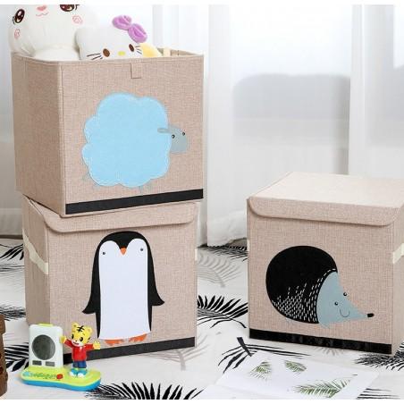 Pojemnik na zabawki, kosz sztywny na pranie toys czarny OR62WZ2