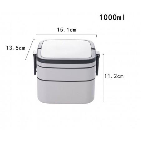 Pojemnik do przenoszenia żywności LUNCH BOX piętrowy 1000ml OR67WZ1