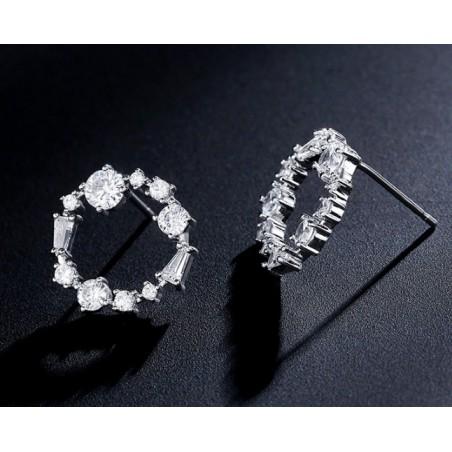 Kolczyki ze stali chirurgicznej srebrne KST1681S