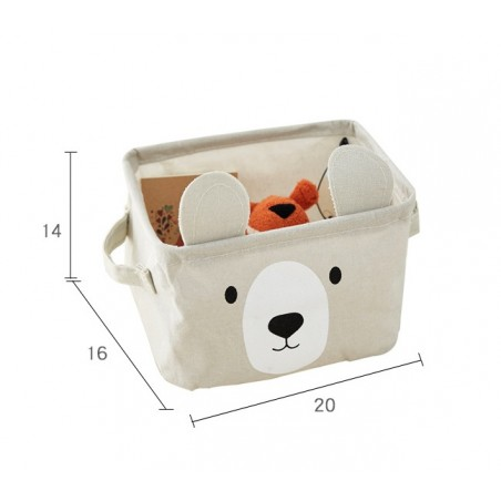 Pojemnik na zabawki kosz, worek na pranie miś OR51N