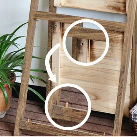 Regał półka na kwiaty książki kwietnik 4 poziomy kolor ciemnobrązowy POL01