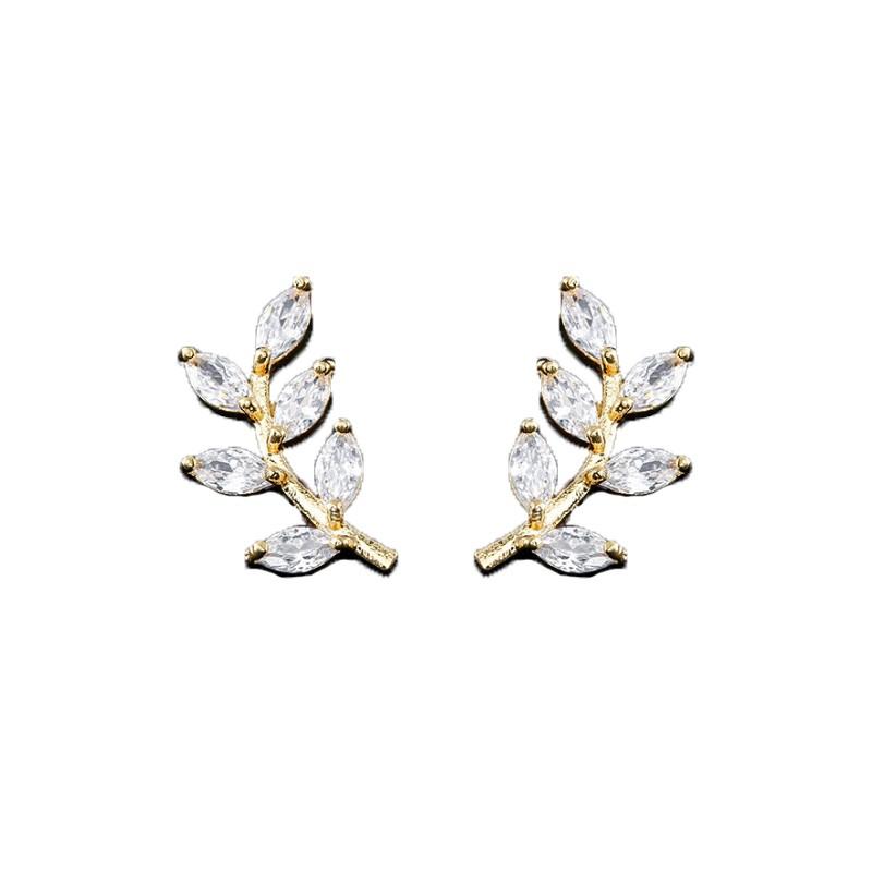 Kolczyki ze stali szlachetnej pozłacanej KST1753z