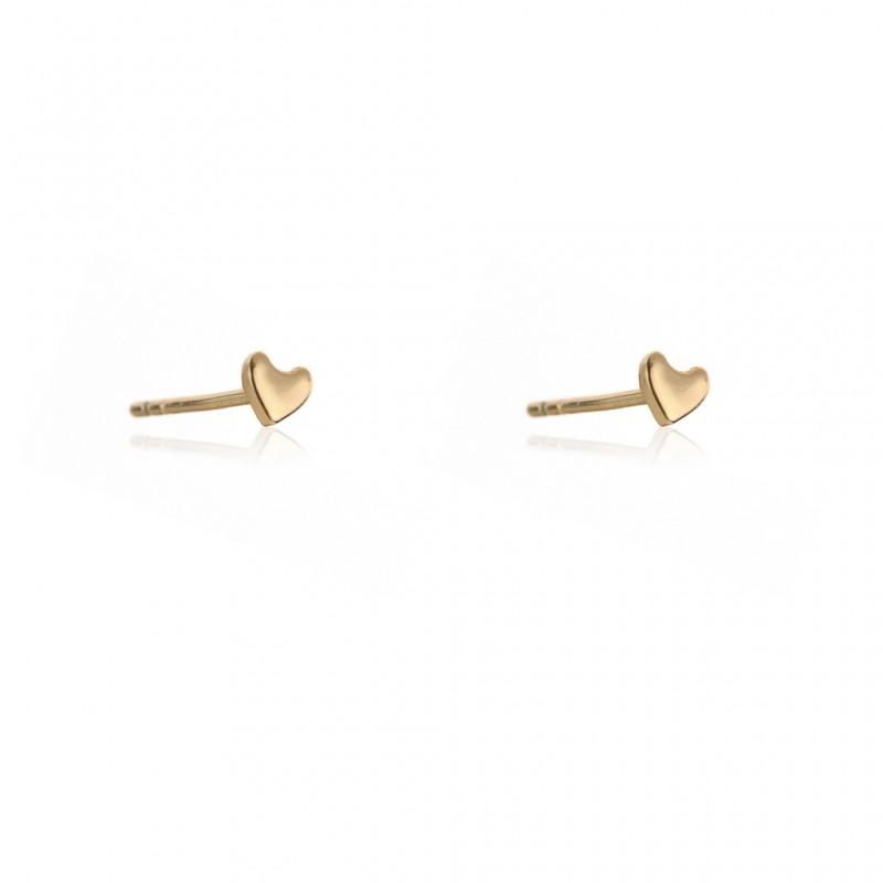 Kolczyki ze stali szlachetnej serduszka minimalistyczne platerowane złotem KST1732