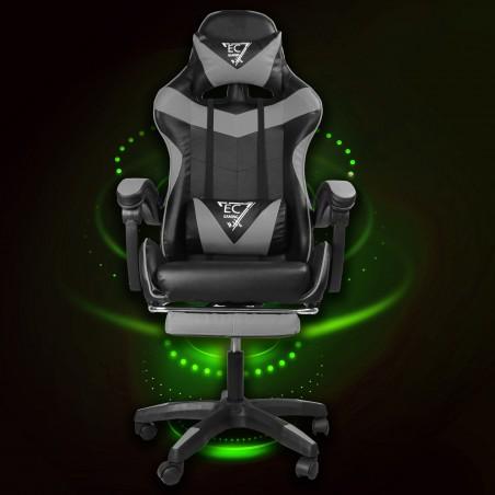 Fotel gamingowy obrotowy z podnóżkiem EC GAMING KO02CZ