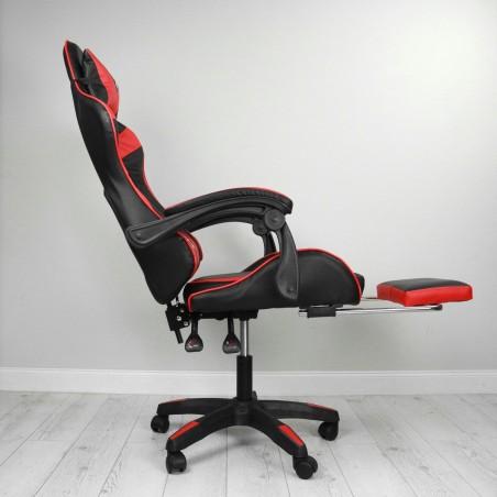 Fotel gamingowy obrotowy z podnóżkiem EC GAMING KO02CZE