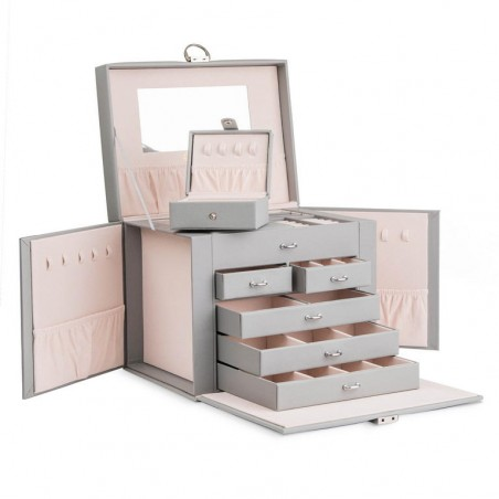 Szkatułka na biżuterię STENBERG kuferek etui organizer pudełko PD64SZ