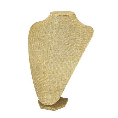 Ekspozytor stojak na biżuterię naszyjniki 28 cm lniany E03