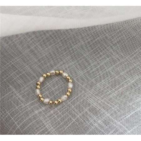 Pierścionek pozłacany na gumce stal szlachetna platerowana złotem PST575