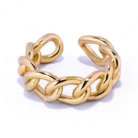 Pierścionek pozłacany regulowany stal chirurgiczna platerowana złotem PST572Z