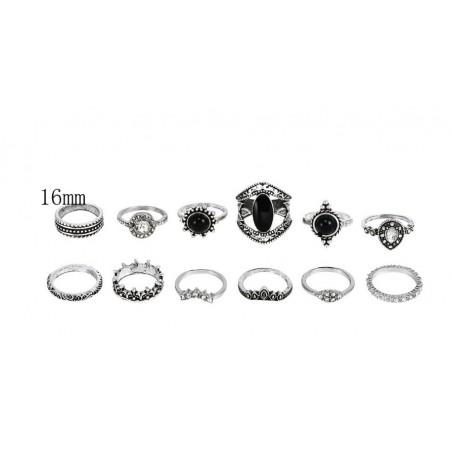 Zestaw 12 pierścionków złote PE55