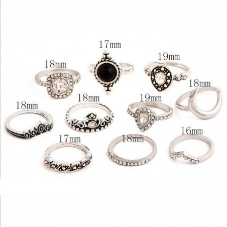 Zestaw 10 pierścionków złote PE57