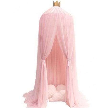 Baldachim do łóżeczka tiulowy, duży, gęsty, różowy BAL1R