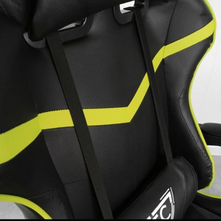 Fotel gamingowy obrotowy z podnóżkiem EC GAMING KO02LIM