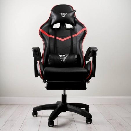 Fotel gamingowy obrotowy z podnóżkiem EC GAMING KO02CZCZE