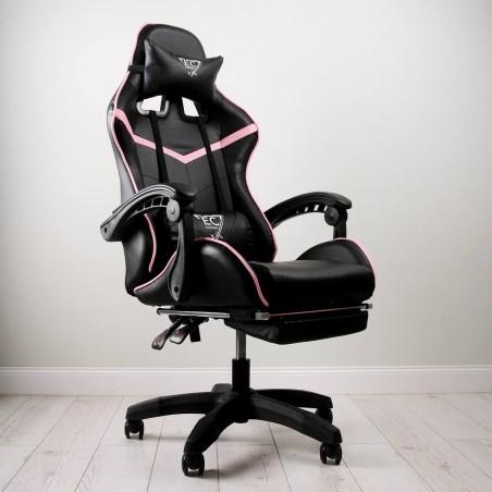 Fotel gamingowy obrotowy z podnóżkiem EC GAMING KO02CZR