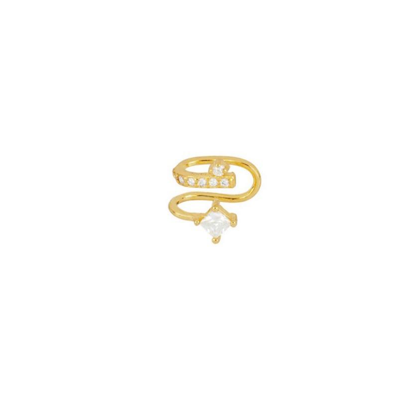 Kolczyk ze stali szlachetnej pozłacanej nausznica 1szt KST2048B