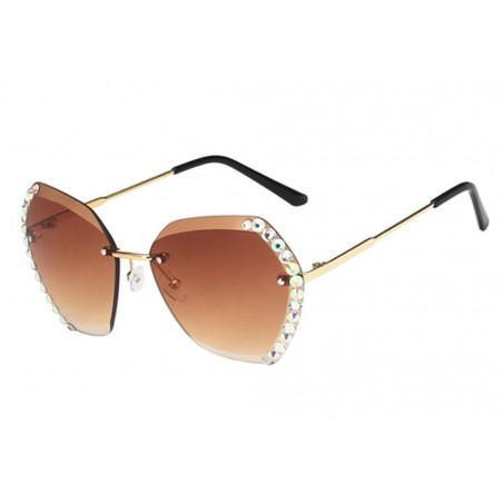 Okulary przeciwsłoneczne z kryształkami COFFE OK212WZ1