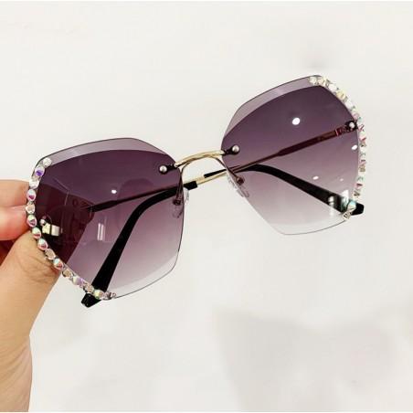 Okulary przeciwsłoneczne z kryształkami GRADIENT GRAY OK212WZ2