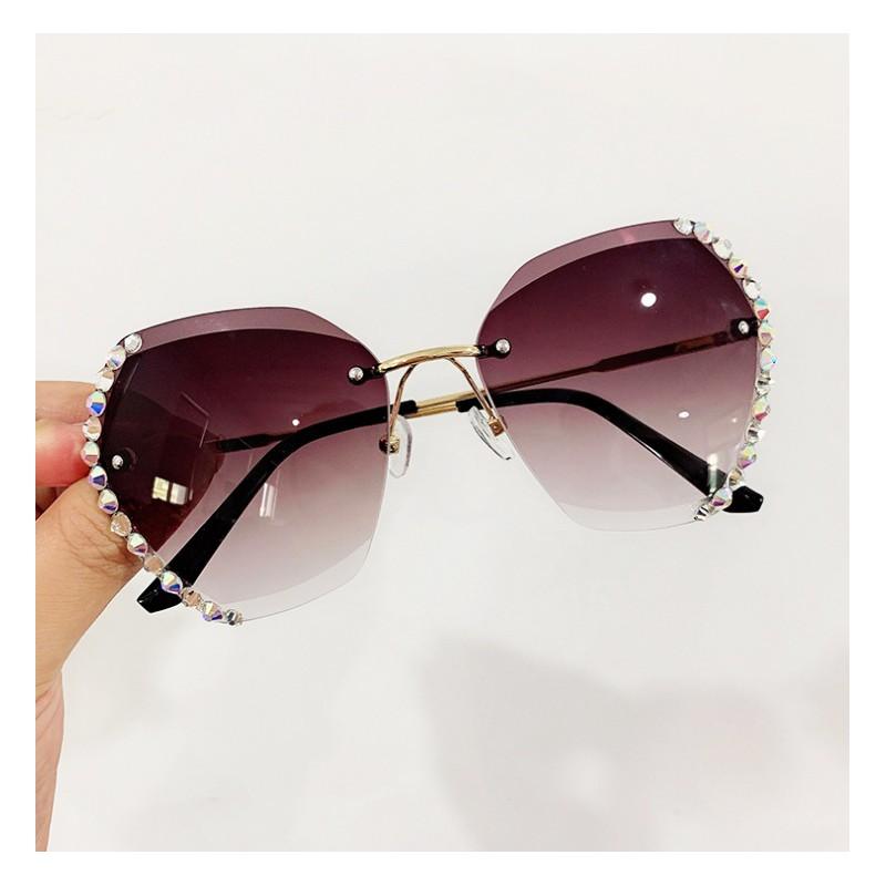 Okulary przeciwsłoneczne z kryształkami GRADIENT COFFE OK212WZ3