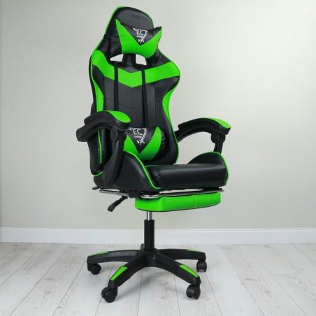 Fotel gamingowy obrotowy z podnóżkiem EC GAMING KO02ZIE