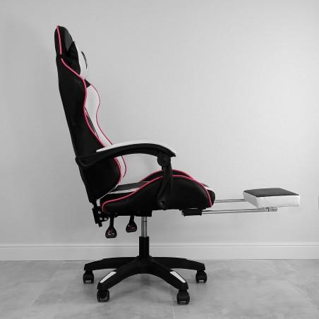 Fotel gamingowy obrotowy z podnóżkiem EC GAMING KO02CZRB