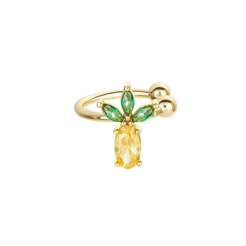 Kolczyk w kolorze złotym z kryształkiem nausznica 1szt K1546WZ1