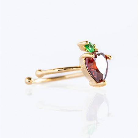 Kolczyk w kolorze złotym z kryształkiem nausznica fruity 1szt K1546WZ3