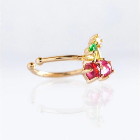Kolczyk w kolorze złotym z kryształkiem nausznica fruity 1szt K1546WZ5